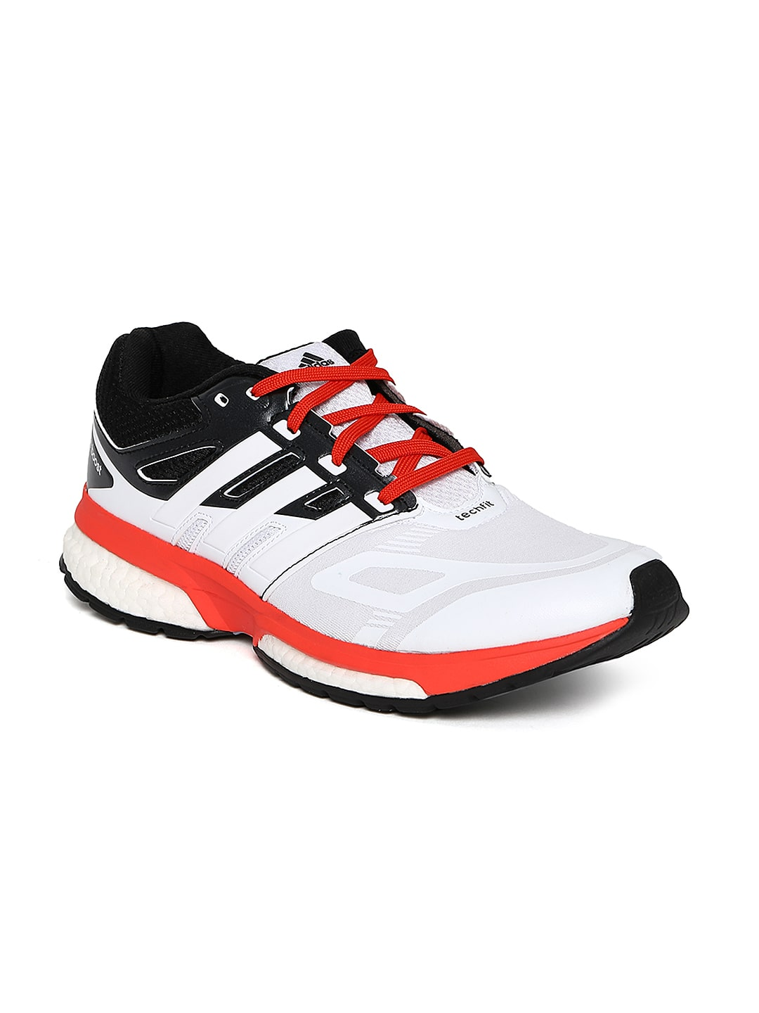 Adidas m18883 Men White Response Boost Techfit M Running Shoes ... dcdf18ff5