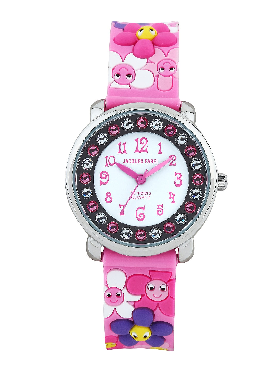 39a629e97 Jacques farel kids kla9095 Girls White Dial Watch - Best Price in India ...