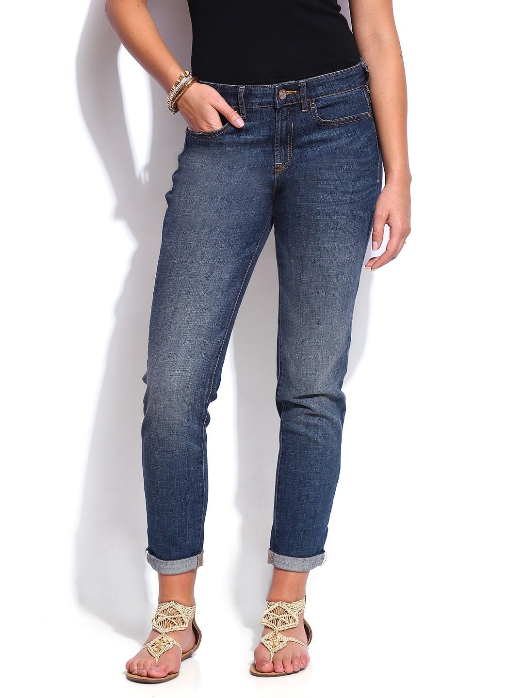 Indigo Collection T663168 By Marks Spencer Women Blue Boyfriend Hanger Marksspencer Slim Jeans