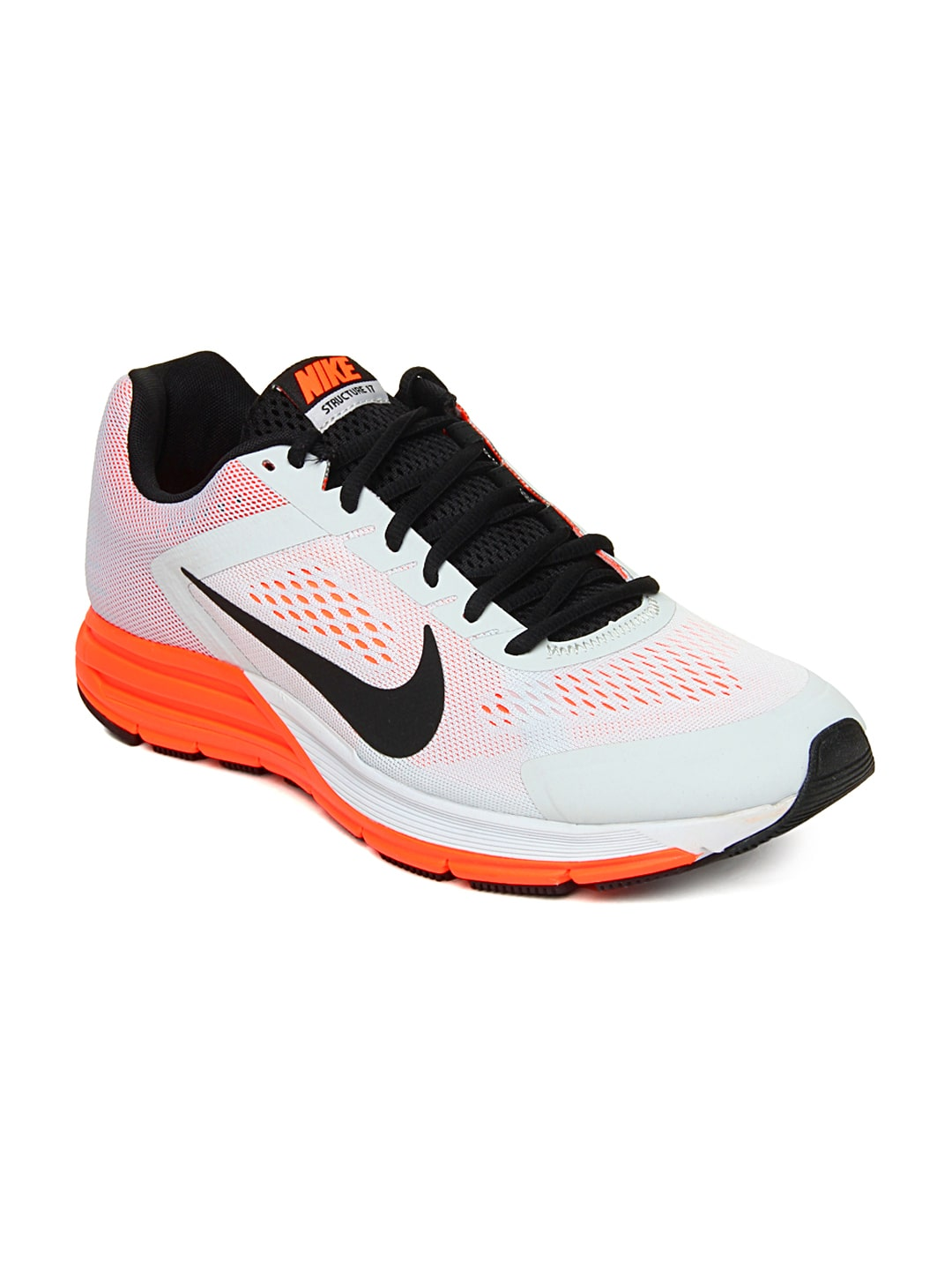 99ef898c3f5a Nike 615587-003 Men Light Grey Zoom Structure 17 Running Shoes ...