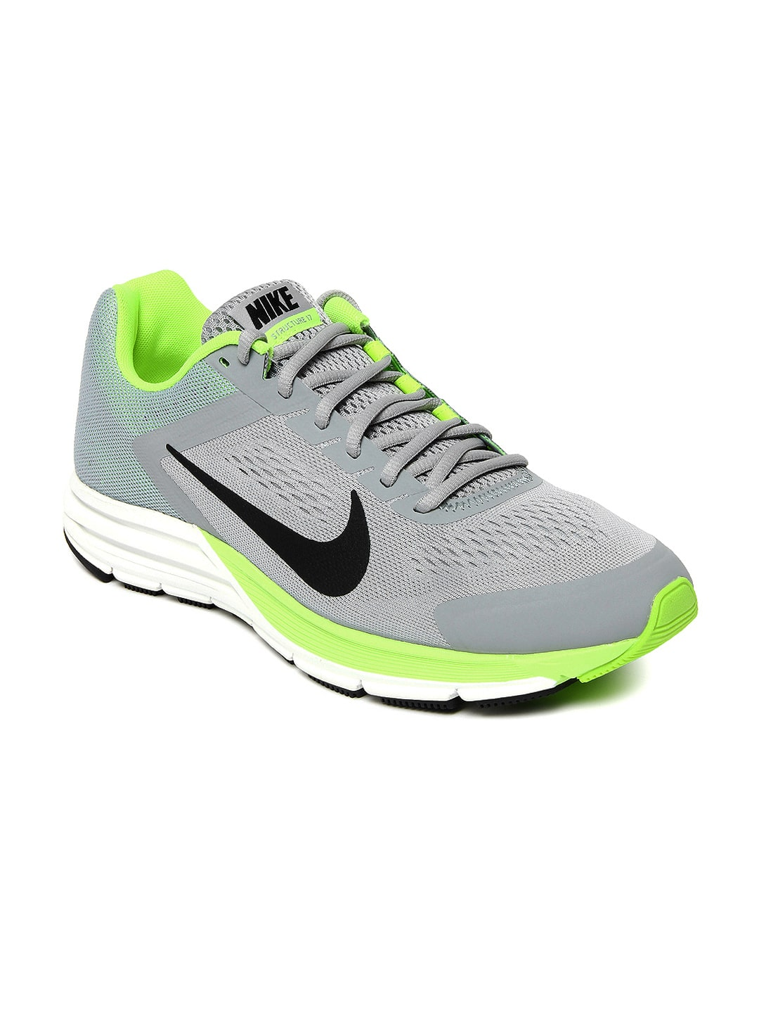 check out e8e7f 912d8 Nike 615587-007 Men Grey Zoom Structure+ 17 Sports Shoes ...
