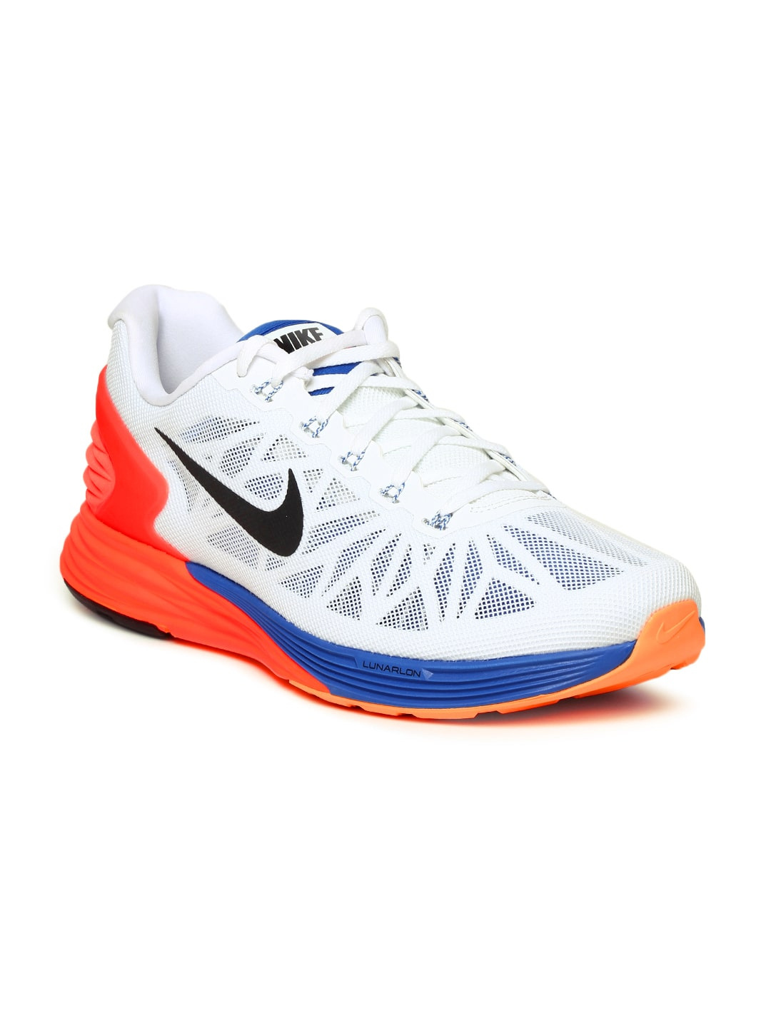 4da9304ba75a8 Nike 654433-101 Men White Lunarglide 6 Sports Shoes - Best Price in ...