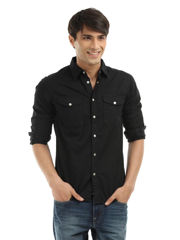 Voi Jeans Vosh0133 Men Black Shirt Best Price In India Priceiq In
