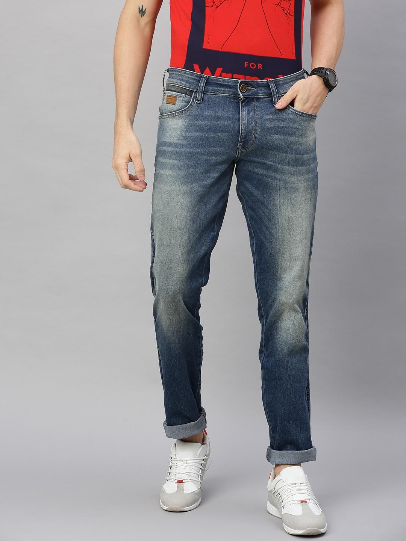 Wrangler Blue Skanders Slim Fit Jeans for Men