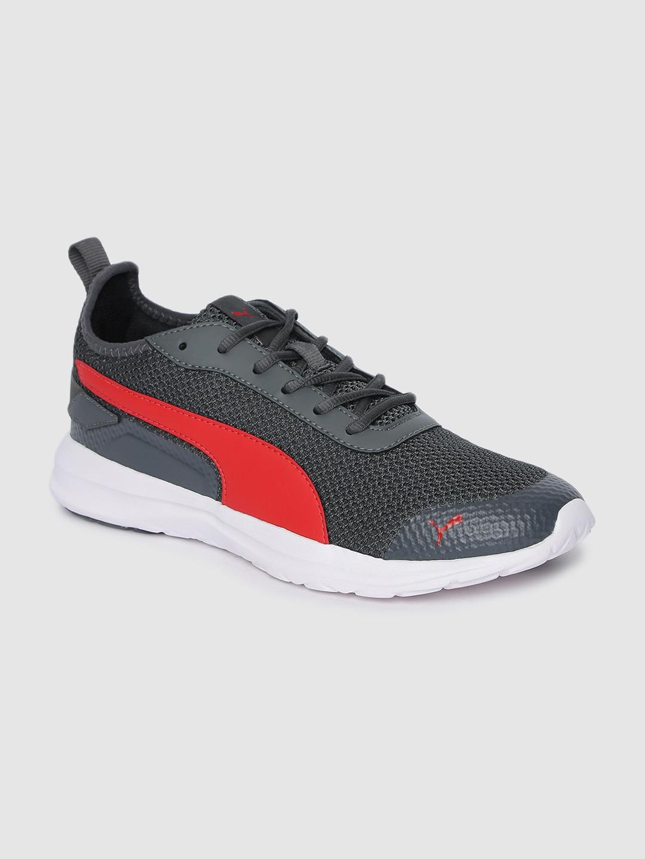 Puma Men Grey & Red Manitoba IDP Running Shoes