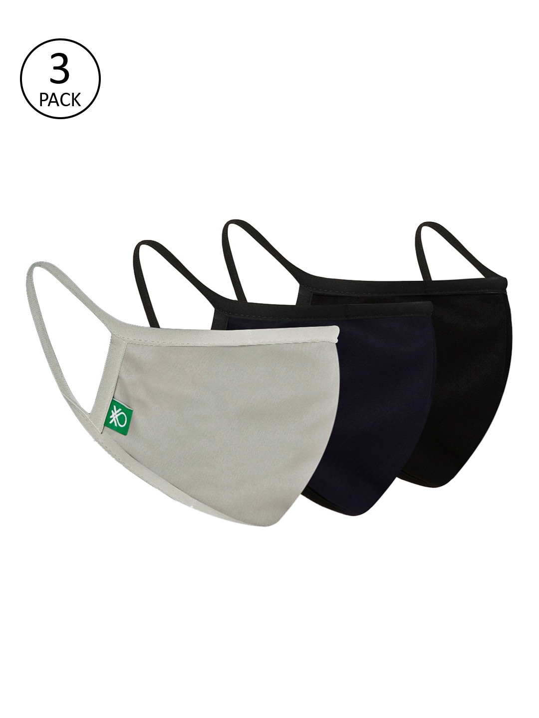United Colors of Benetton Unisex 3Ply 3Pcs Protective Outdoor Face...