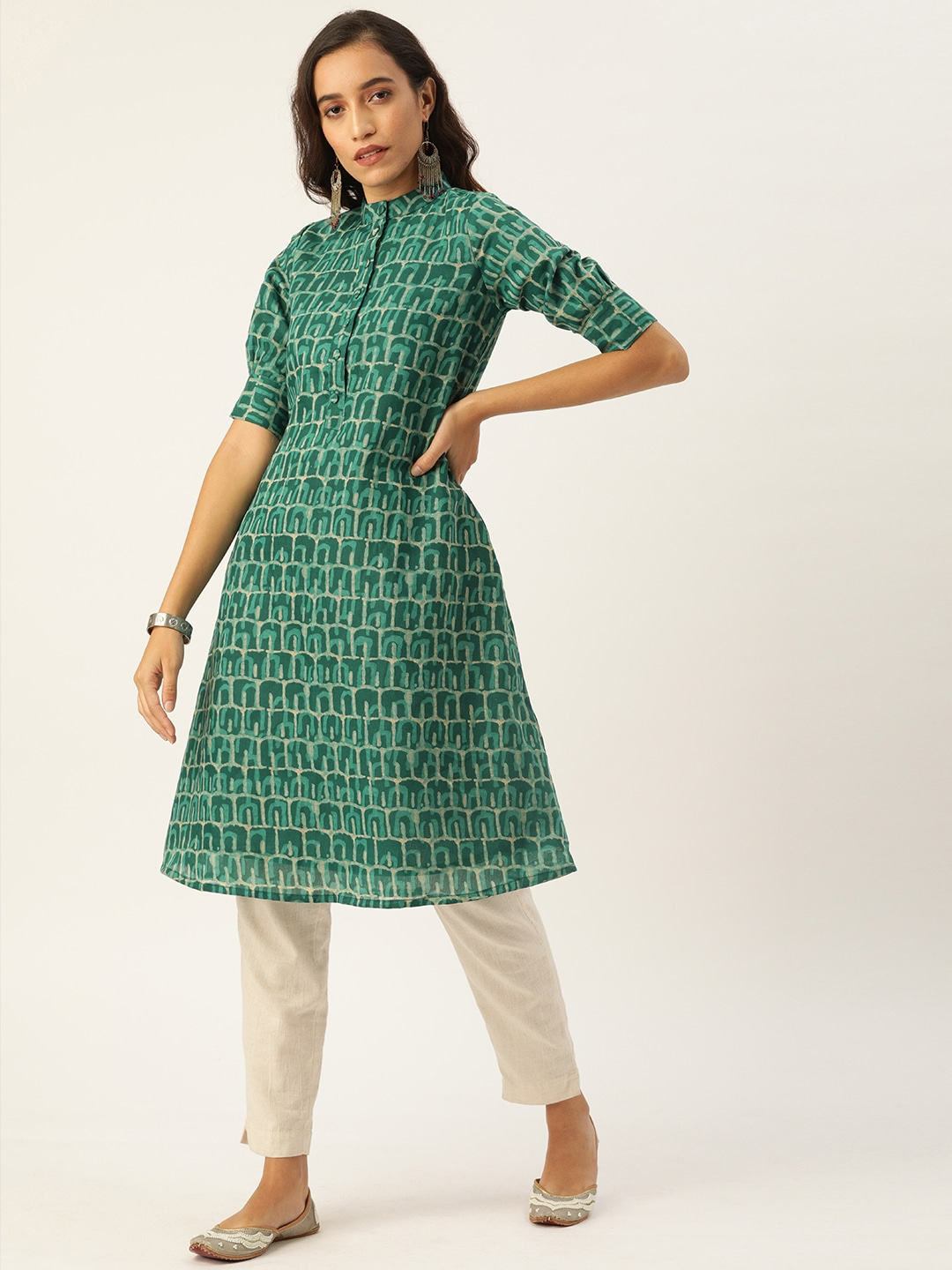 Details about  /Women Girls Semi Stitch Cotton Fabric Party Wear New Best Selling Dress Material