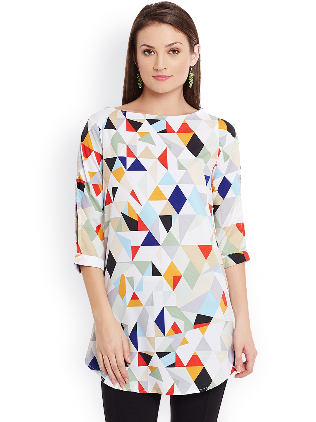 Ruhaans Multicoloured Printed Kurti