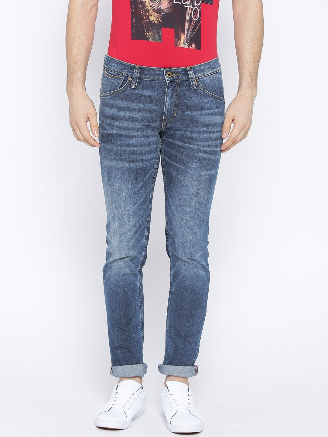 Lee: Men Blue Regular Fit Jeans