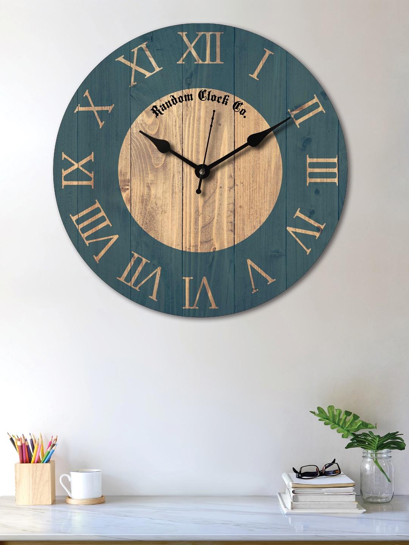 Buy RANDOM Green & Brown Round Printed Analogue Wall Clock