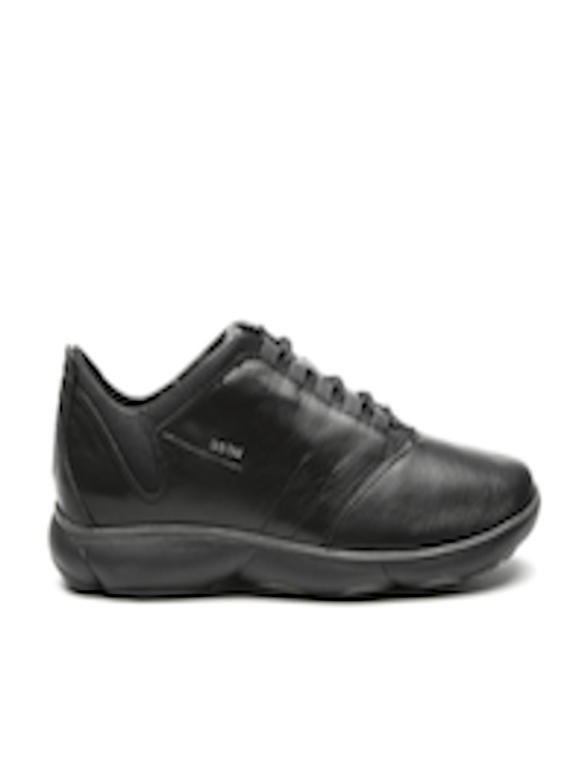 Buy Men Slip Sneakers Black Italian Respira Leather Nebula Breathable For On Patent Footwear Geox by76gf