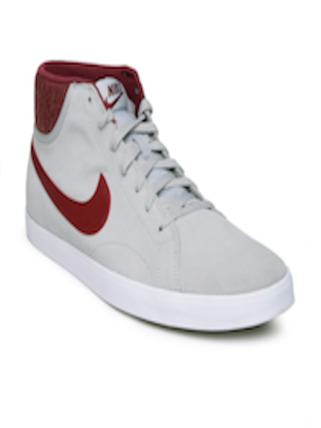online store 353cf 9f52b Buy Nike Men Grey   Maroon Suede EASTHAM MID Casual Shoes - Casual Shoes  for Men 1003503   Myntra