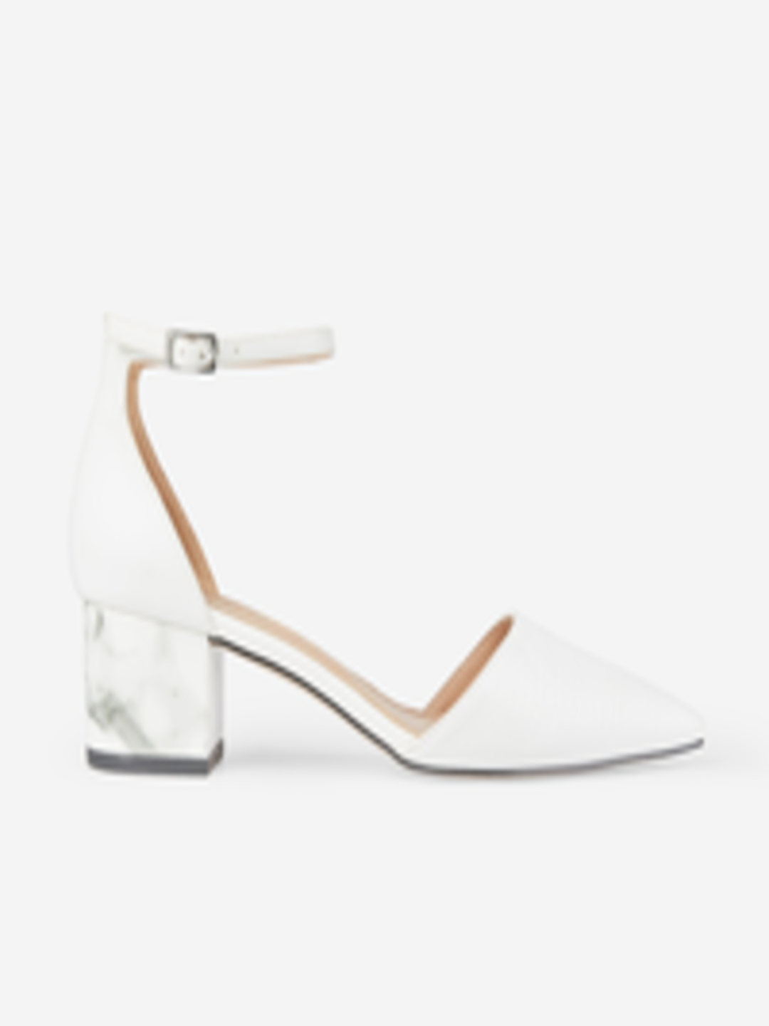Women White Textured Heels by Dorothy Perkins