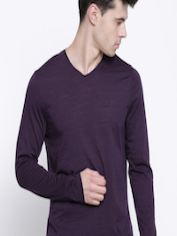 Buy Blackberrys Purple Merino Wool T Shirt - - Apparel for Men