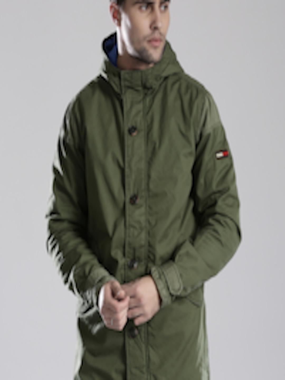 buy tommy hilfiger olive green padded hooded jacket. Black Bedroom Furniture Sets. Home Design Ideas