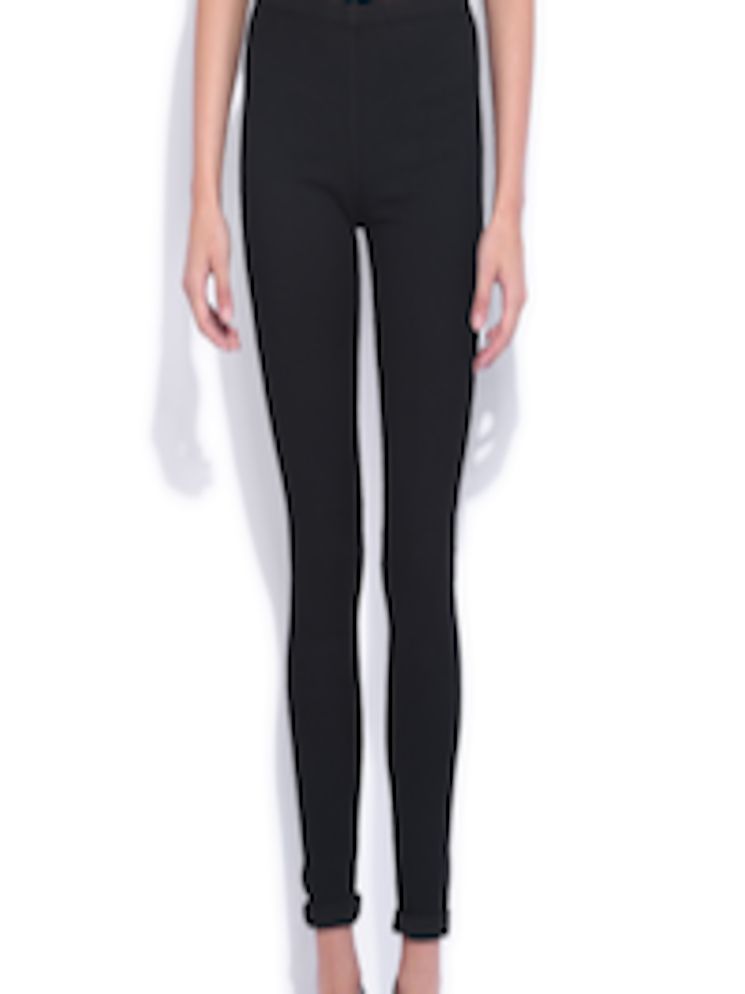 94cdc10810f48a Buy Kraus Jeans Black Jeggings - Jeggings for Women 1062704 | Myntra