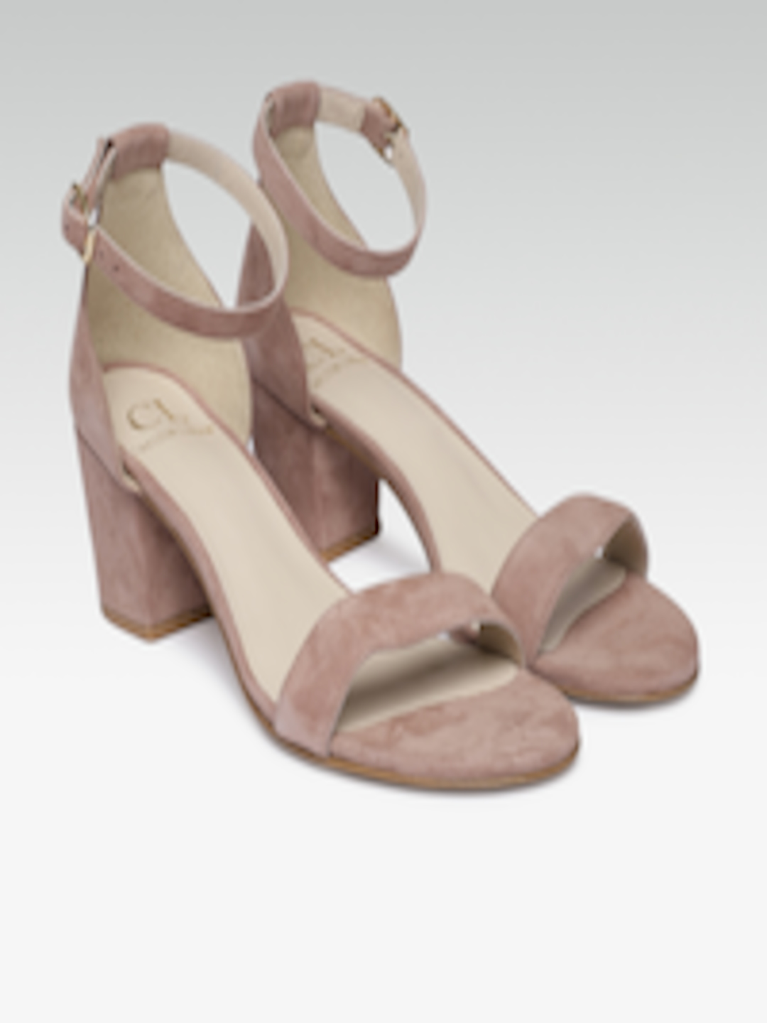 Buy Catwalk Women Nude Coloured & Gold Toned Solid Wedges
