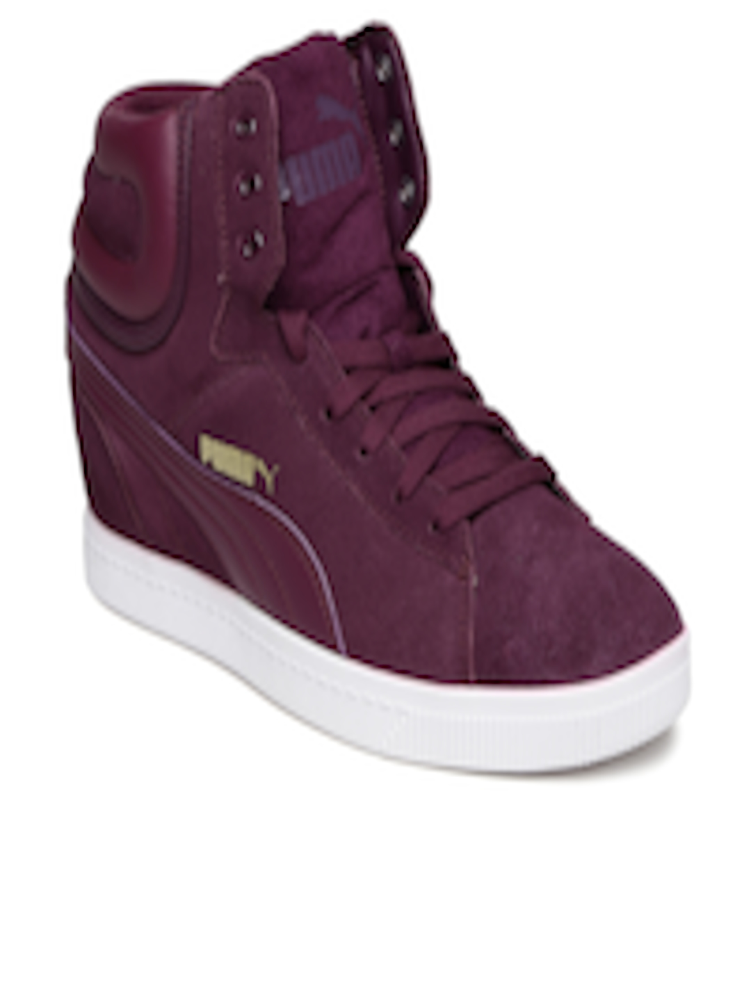 9cc243b7a99 Buy Puma Women Purple Vikky Wedge Suede Sneakers - Casual Shoes for Women  1089974