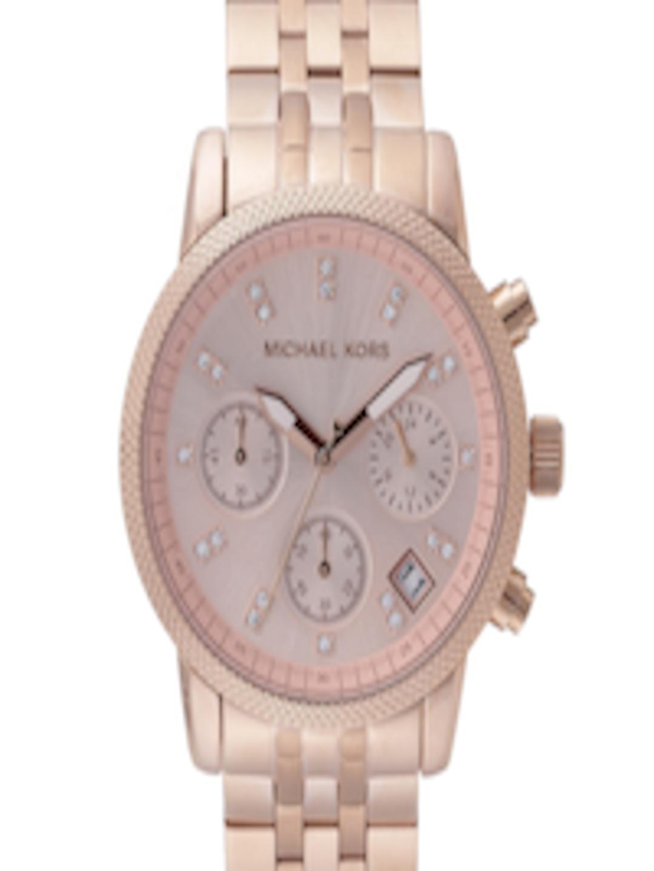 135c70c8b0473 Buy Michael Kors Women Pink Stone Studded Multifunction Dial Watch MK6077 -  - Accessories for Women