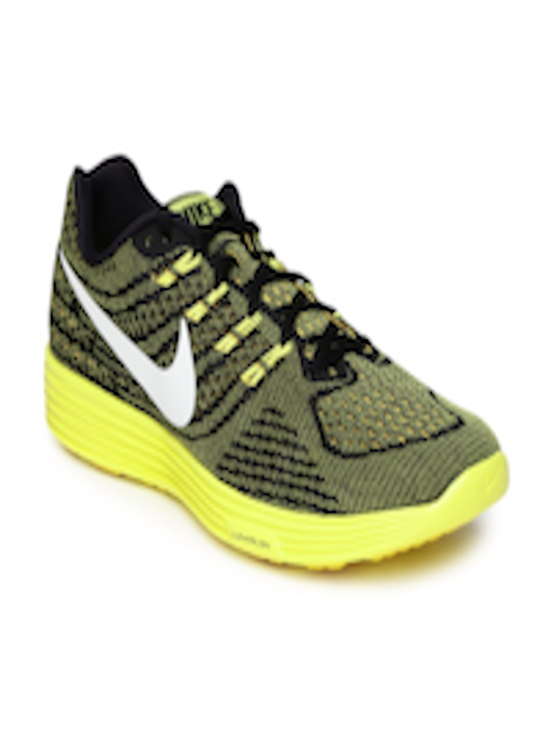 uk availability 5cbae 141cd Buy Nike Men Black & Yellow LunarTempo 2 Running Shoes - - Footwear for Men
