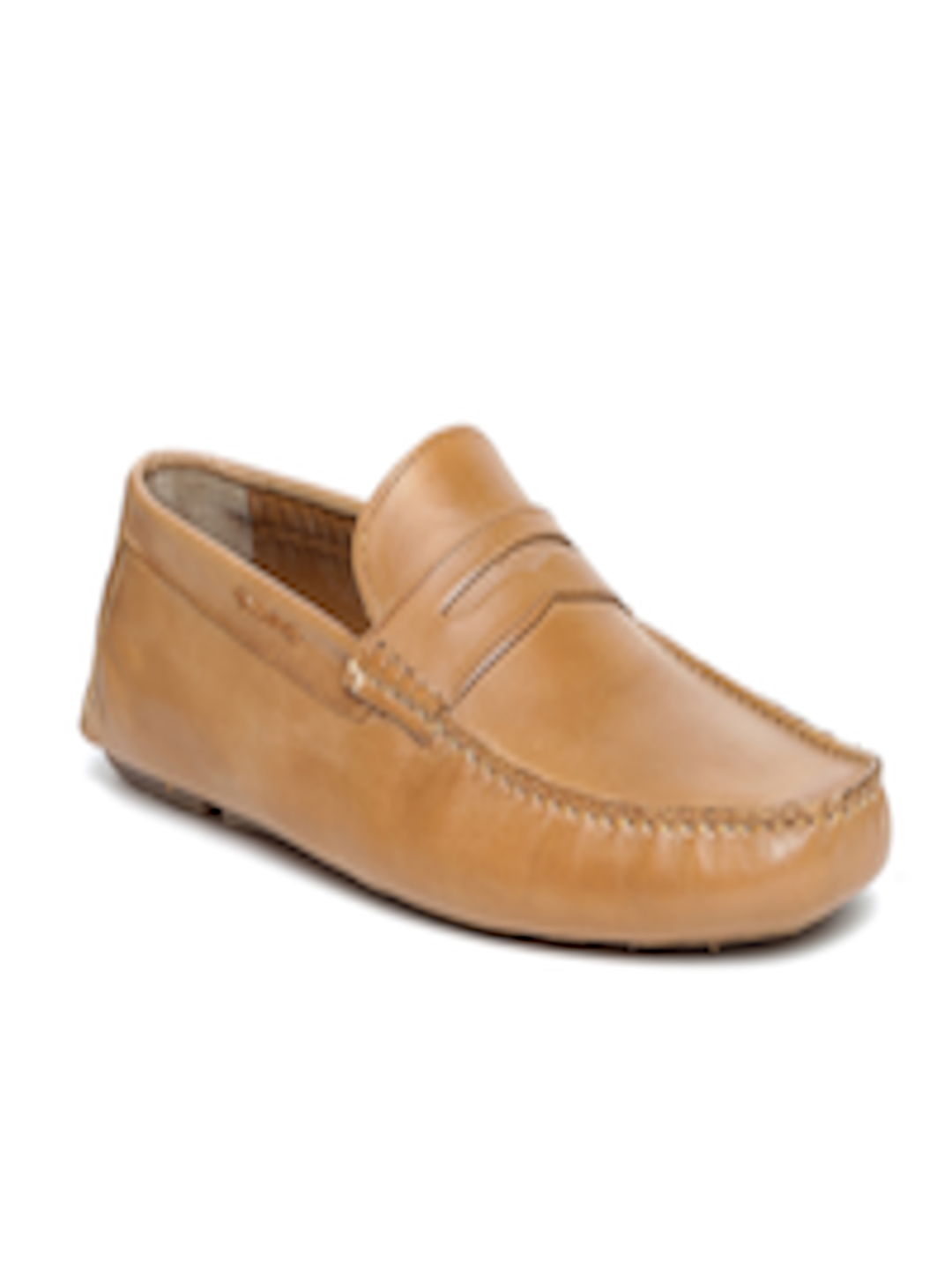 Buy Bata Men Tan Brown Leather Loafers Casual Shoes For