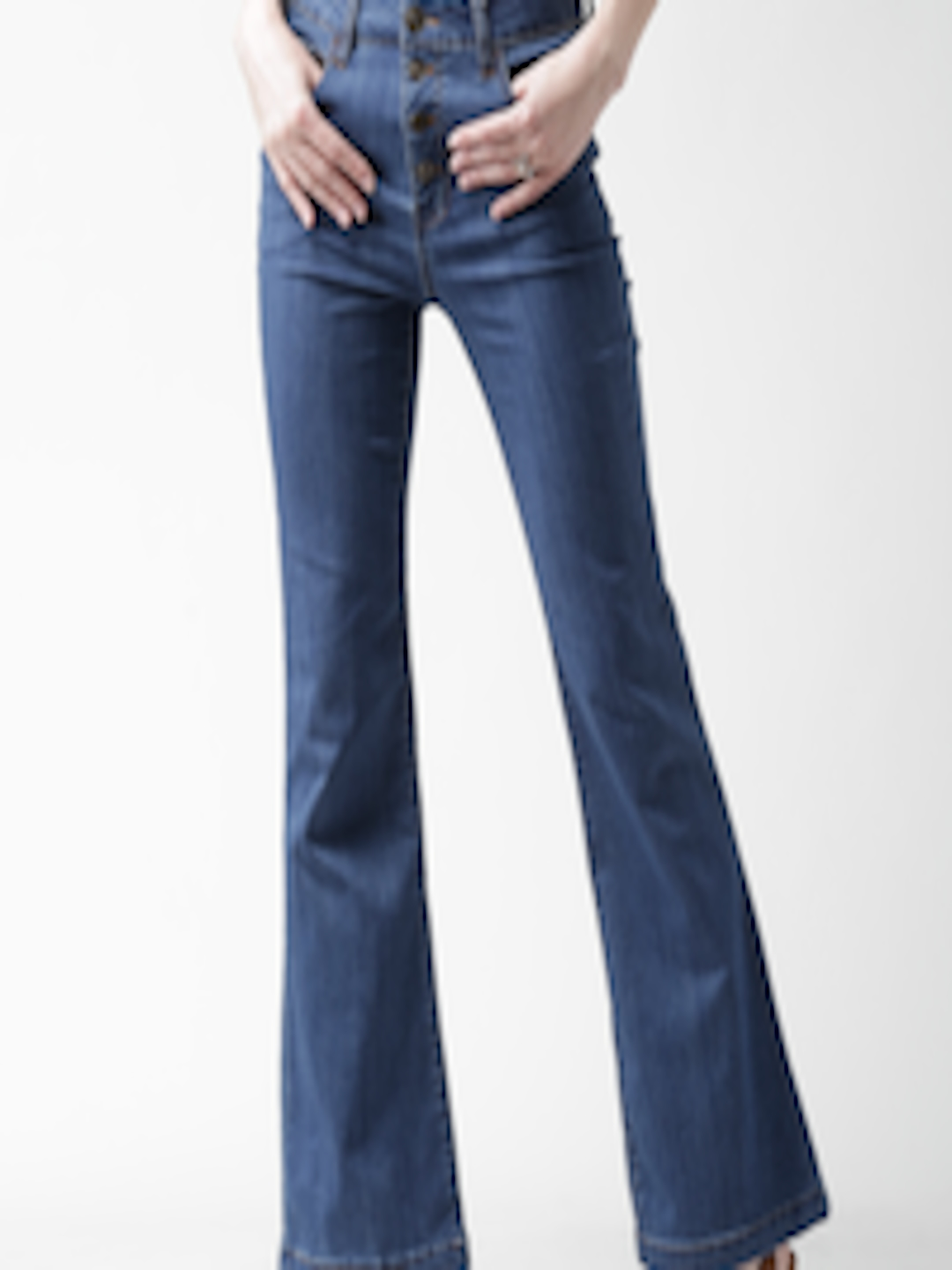 695513840ef58d Buy FOREVER 21 Blue High Rise Bootcut Jeans - Jeans for Women 1149845    Myntra