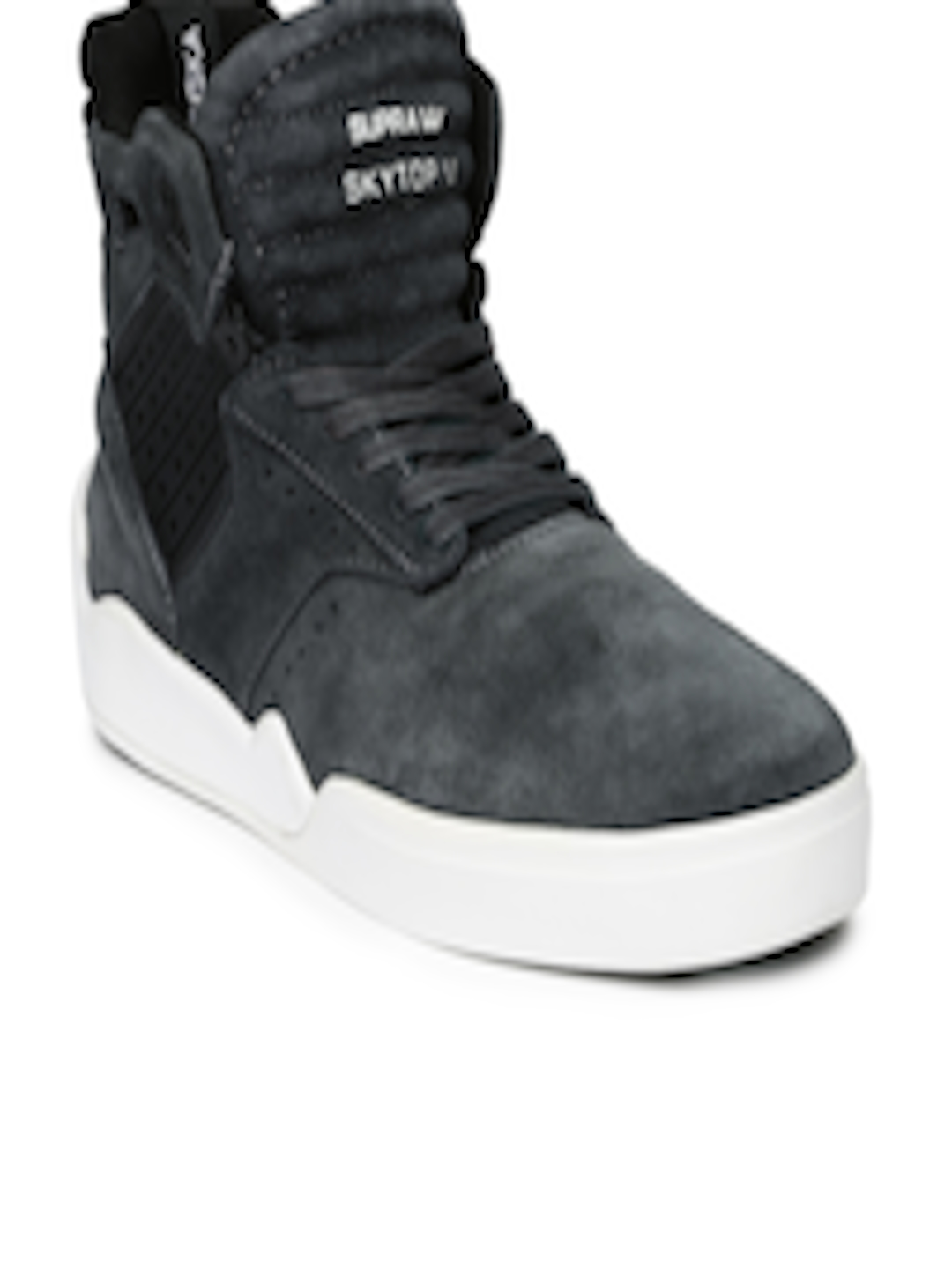 7a262b3b20ef Buy Supra Men Grey Skytop IV Leather Sneakers - Casual Shoes for Men  1206369