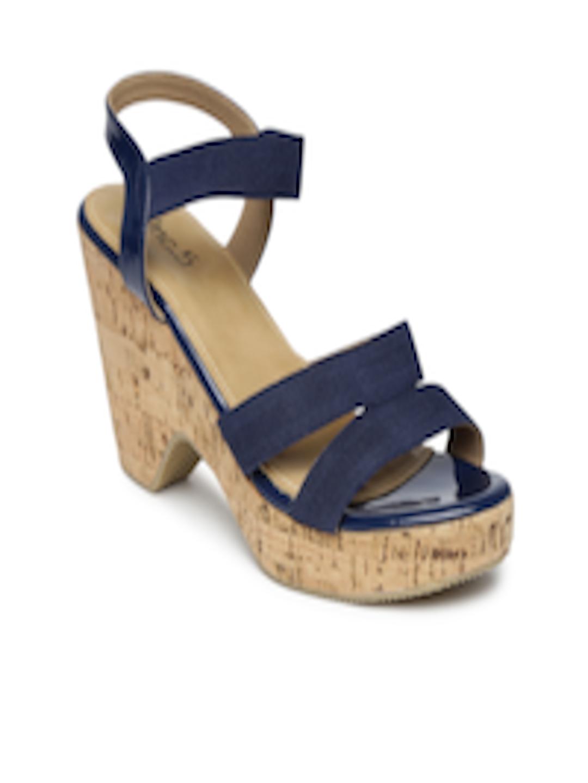 Buy Inc.5 Women Navy Chunky Heels - Heels for Women | Myntra