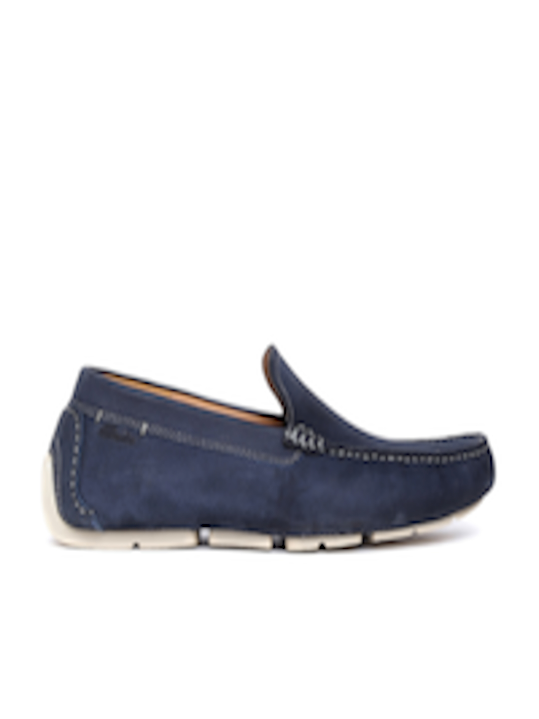 e6c871aee6b Buy Clarks Men Navy Leather Driving Shoes - Casual Shoes for Men 1239812