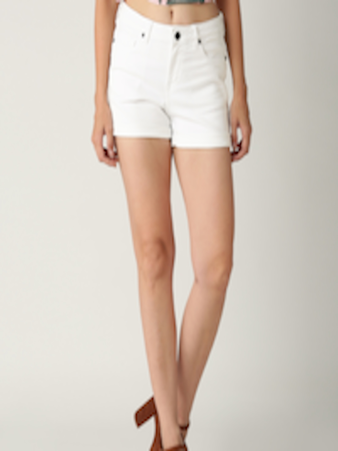Buy All About You From Deepika Padukone White Denim Shorts ...