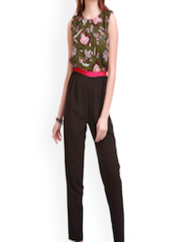 db3441e32a Buy SASSAFRAS Green   Black Floral Print Jumpsuit - Jumpsuit for Women  1291139