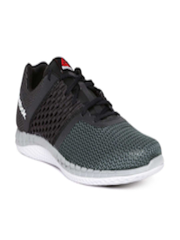 Buy Reebok Men Grey   Black ZPRINT Running Shoes - Sports Shoes for Men  1304573  4af2adc8e