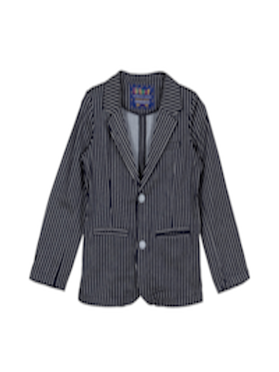 3290dcacb22f Buy Lilliput Boys Navy Striped Blazer - Blazers for Boys 1331293 ...