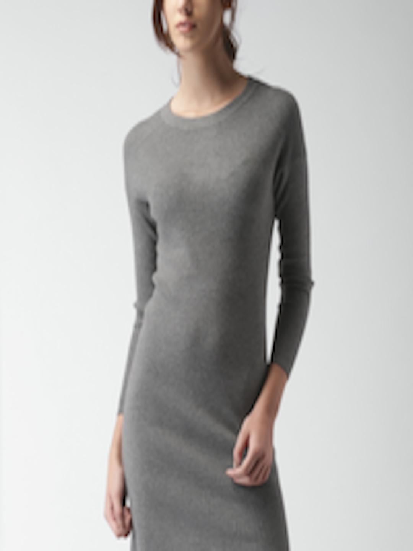 41c8a33f7fca01 Buy Mast   Harbour Women Grey Melange Sweater Dress - Dresses for Women  1357807