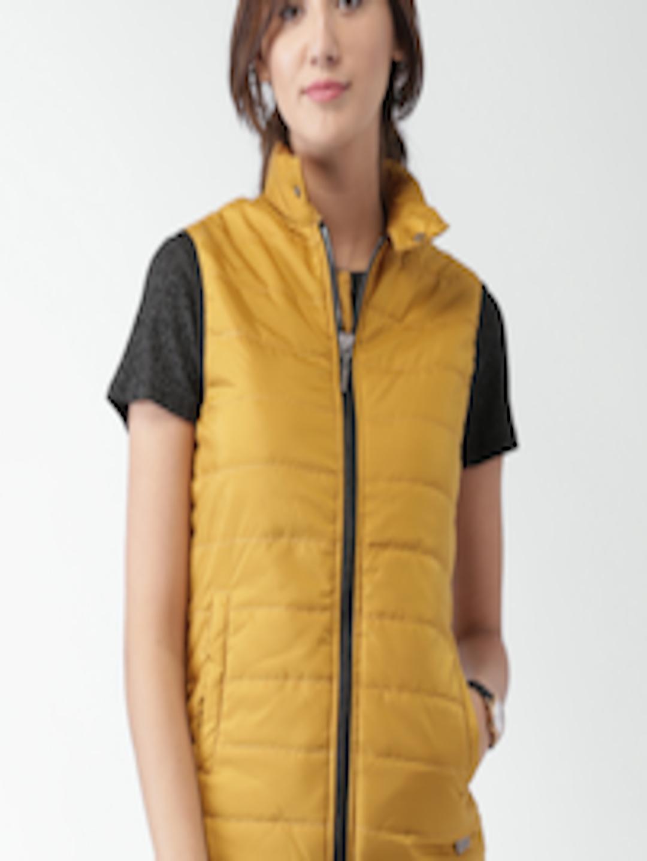 96de6ec97 Buy Mast & Harbour Mustard Yellow Sleeveless Puffer Jacket - - Apparel for  Women