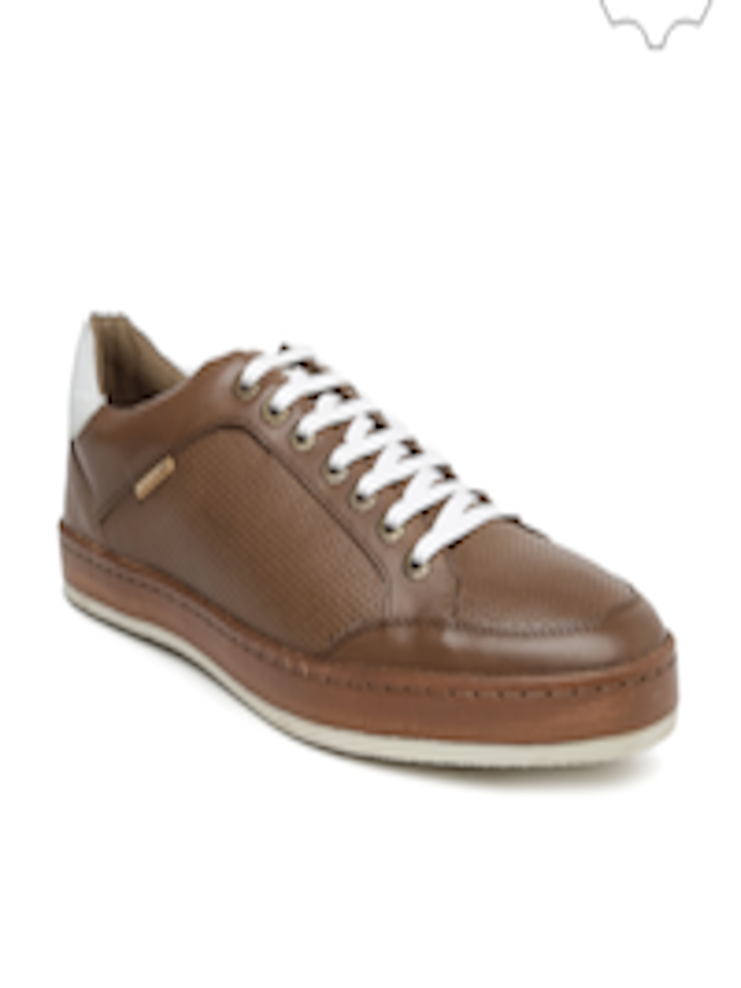 buy u s polo assn men brown genuine leather casual shoes casual shoes for men 1368167 myntra. Black Bedroom Furniture Sets. Home Design Ideas