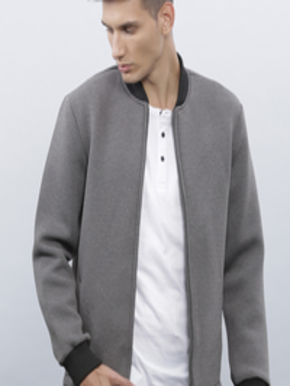 Buy Ether Men Grey Bomber Jacket - Jackets for Men | Myntra