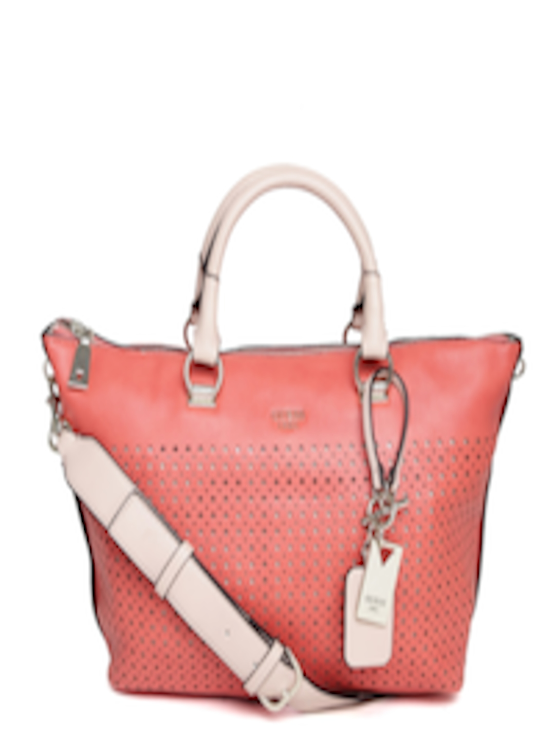 e82ccc095e10 Buy GUESS Coral Orange Cut Out Handbag With Sling Strap - Handbags for  Women 1387522