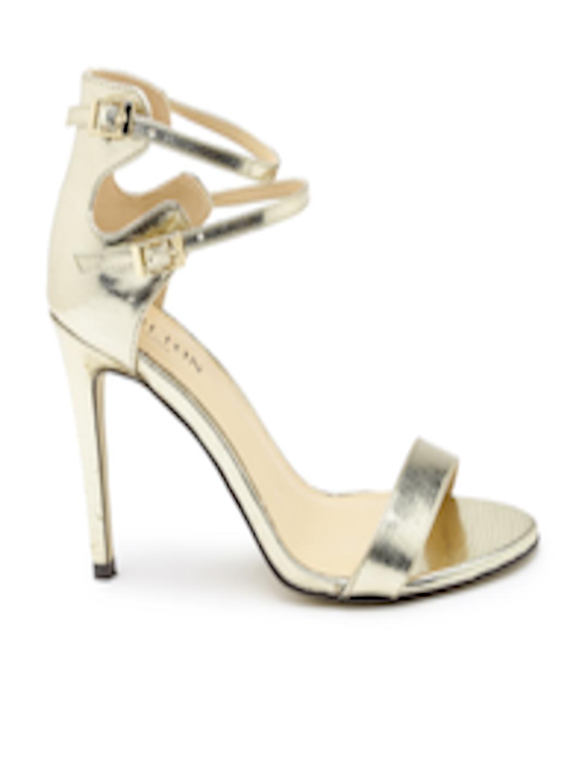 Buy Carlton London Women Muted Gold Toned Heels - Heels for Women ...