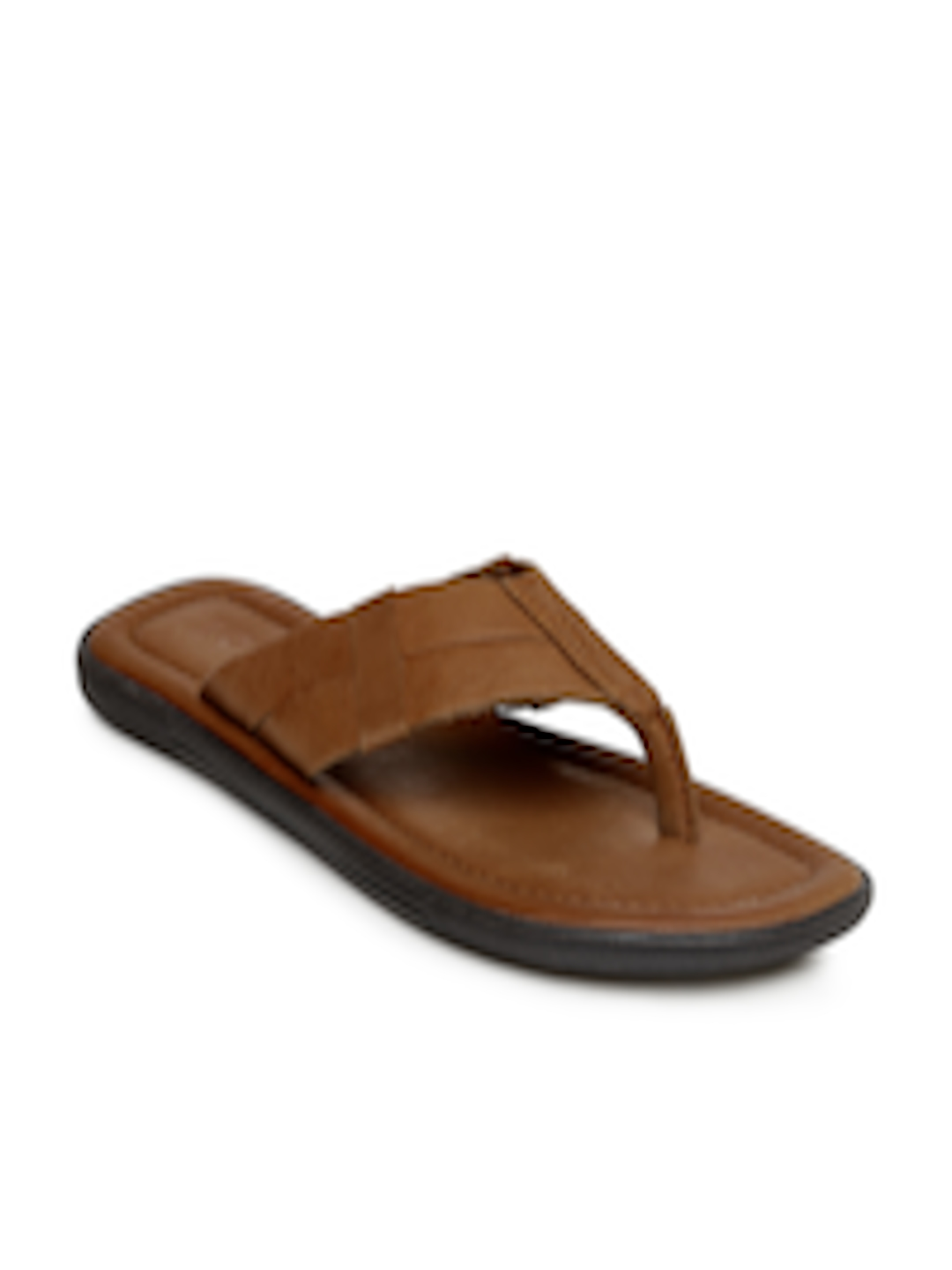 3b29bccfde63 Buy Estd. 1977 Men Brown Leather Sandals - Sandals for Men 1419471 ...