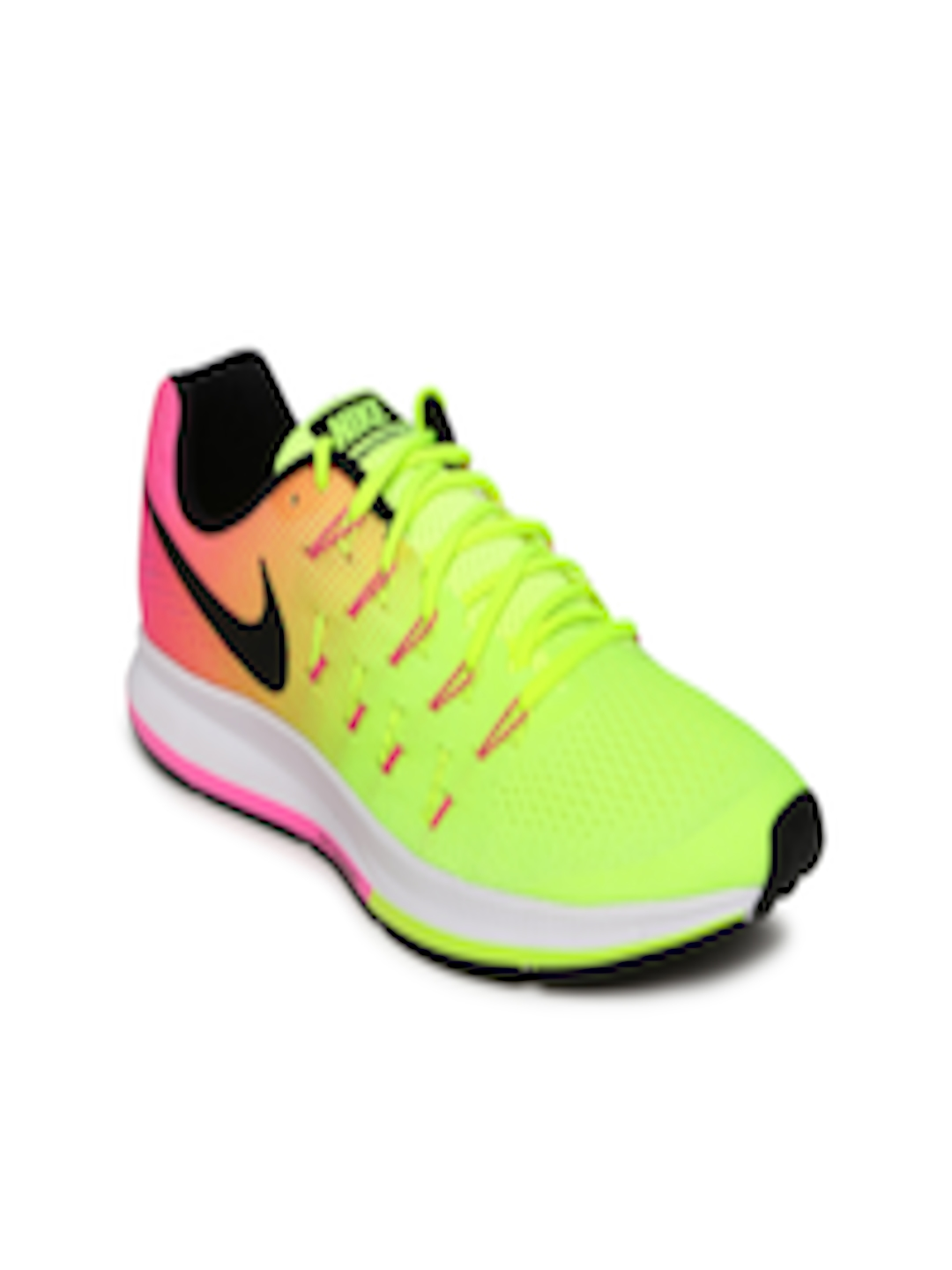 Buy Nike Women Fluorescent Green & Pink AIR ZOOM PEGASUS 33 OC Running Shoes Footwear for Women