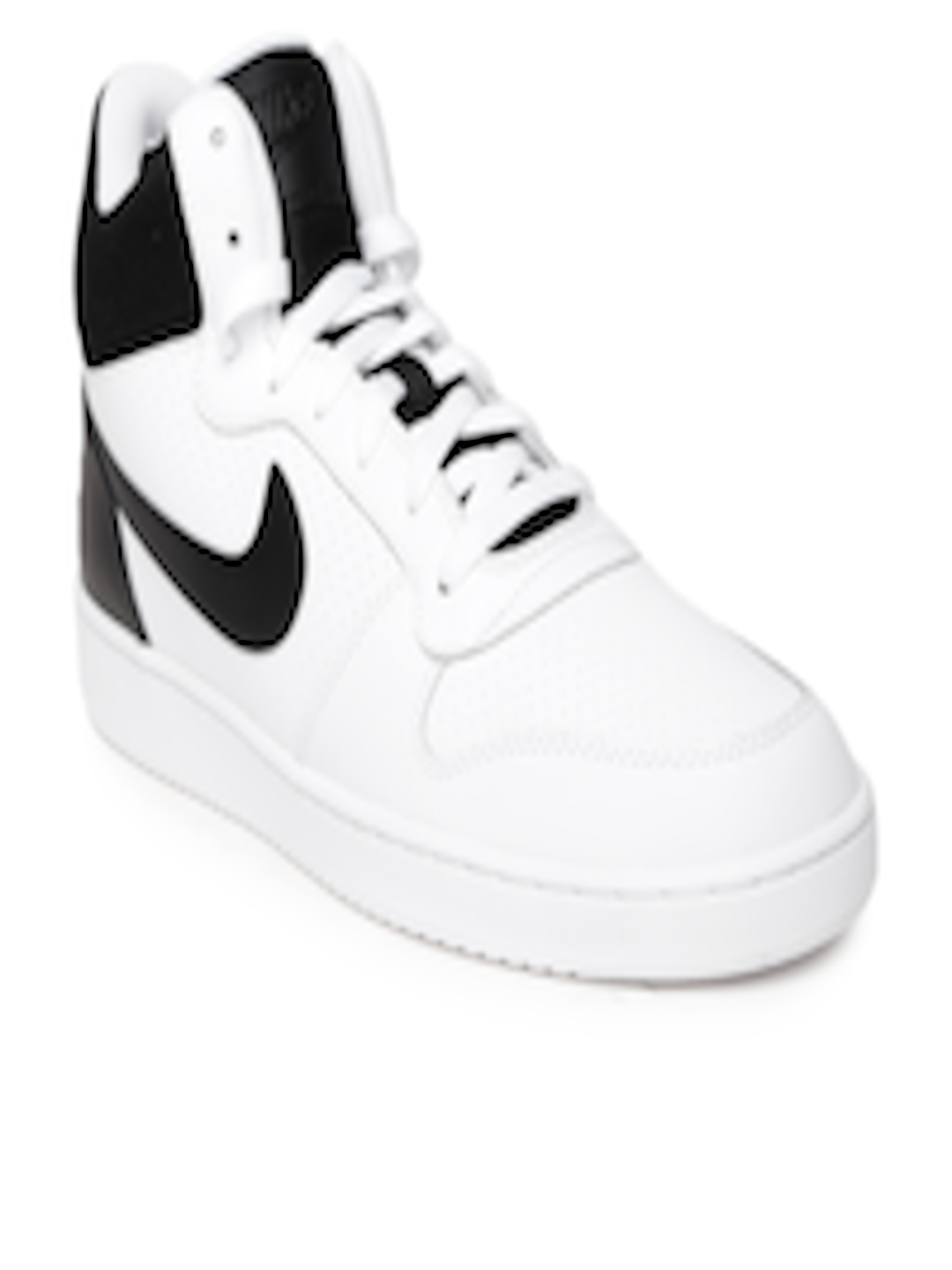 b57540bba517d4 Buy Nike Men White   Black Court Borough Mid Top Leather Sneakers - Casual  Shoes for Men 1421281