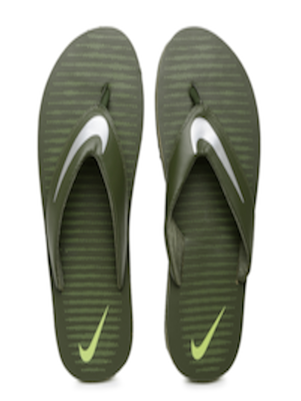 Buy Nike Men Olive Green Printed Chroma Flip Flops - Flip -3948