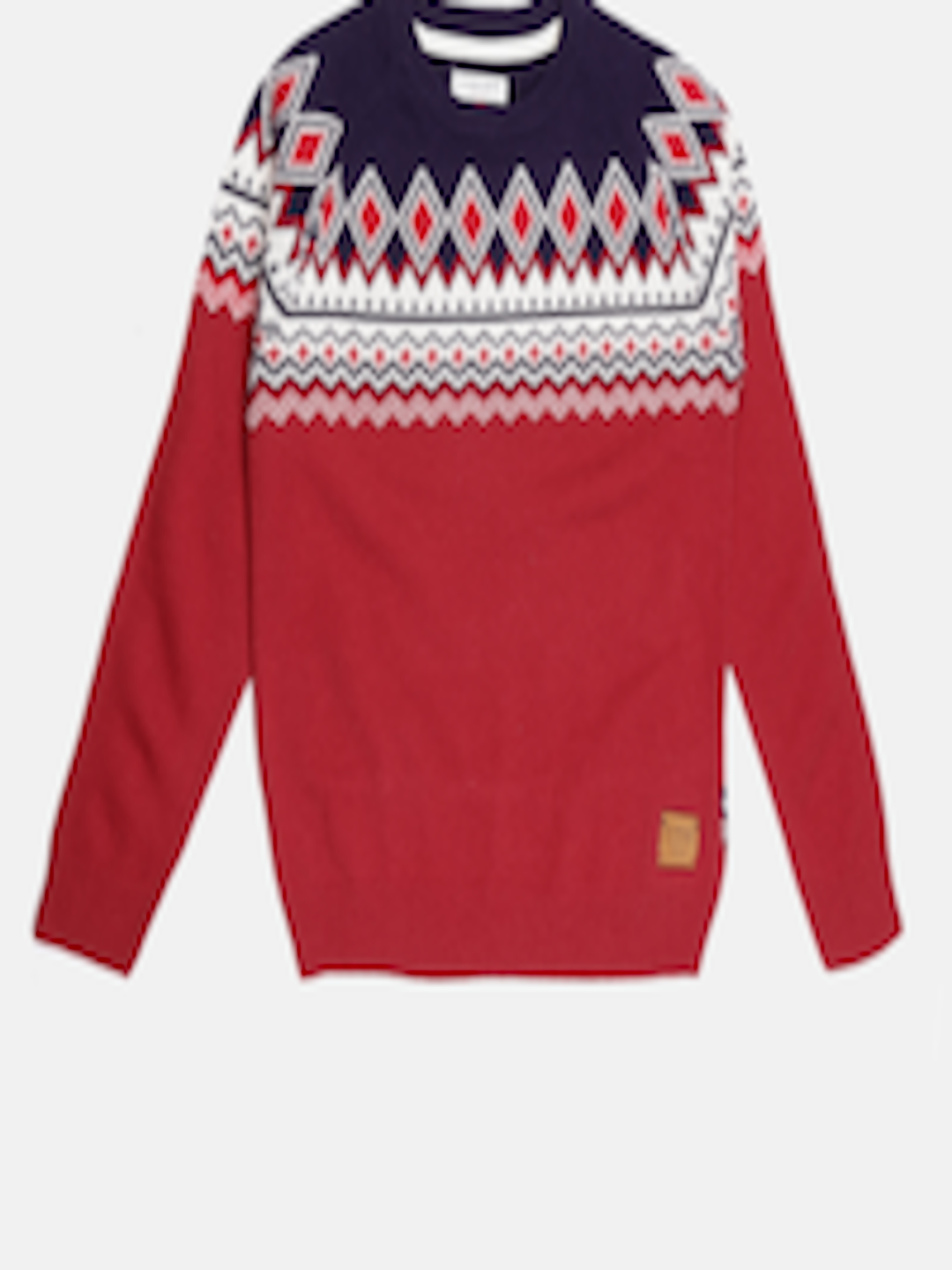 Buy U.S. Polo Assn. Kids Boys Red Self Design Sweater - Sweaters ...