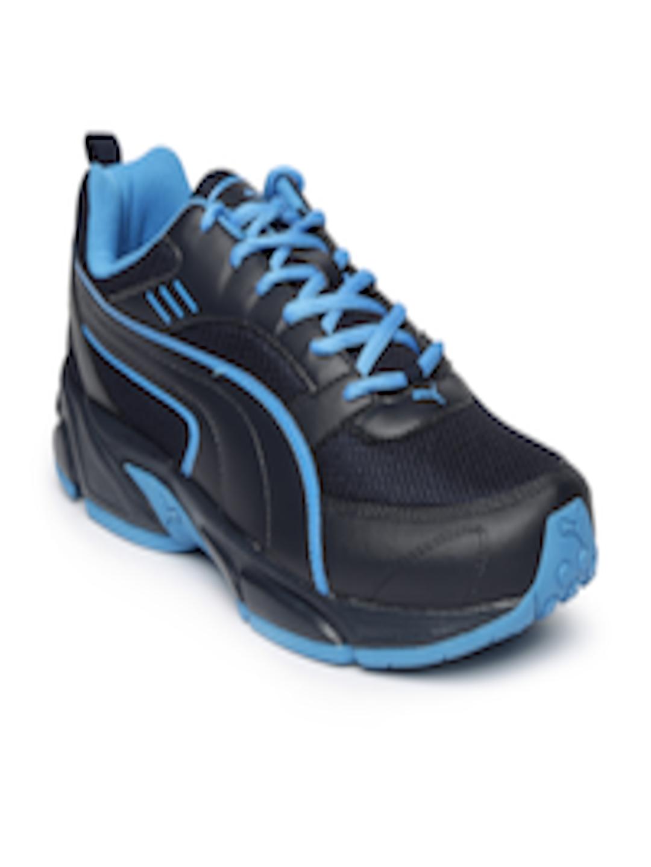 d0e6cf1df7de ... genuine shoes cddaf e4194 Buy PUMA Men Black Atom III DP Running Shoes  - Sports Shoes ...
