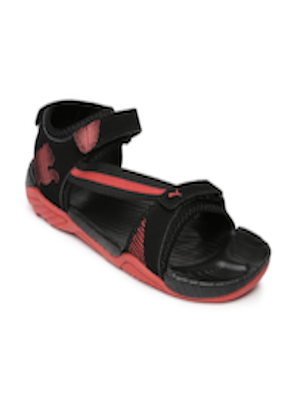 4e8286585954 Buy Puma Men Black   Red K9 IDP Sports Sandals - Sandals for Men 1434957