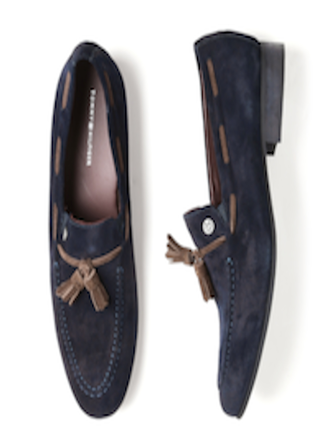 e5ee0ee171d88 Buy Tommy Hilfiger Men Navy Suede Loafers - Casual Shoes for Men 1446182