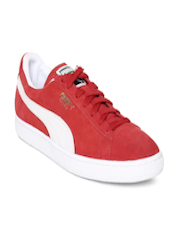 online store 75c08 16826 Buy Puma Men Red Classic+ Team Regal Suede Sneakers - - Footwear for Men