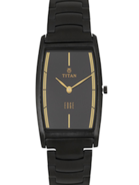 Buy Titan Edge Men Black Dial Watch Nh1044nm01a Watches