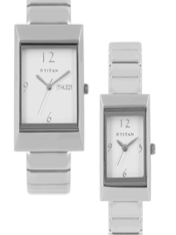 Buy Titan Bandhan Set Of 2 His Amp Her White Dial Watches